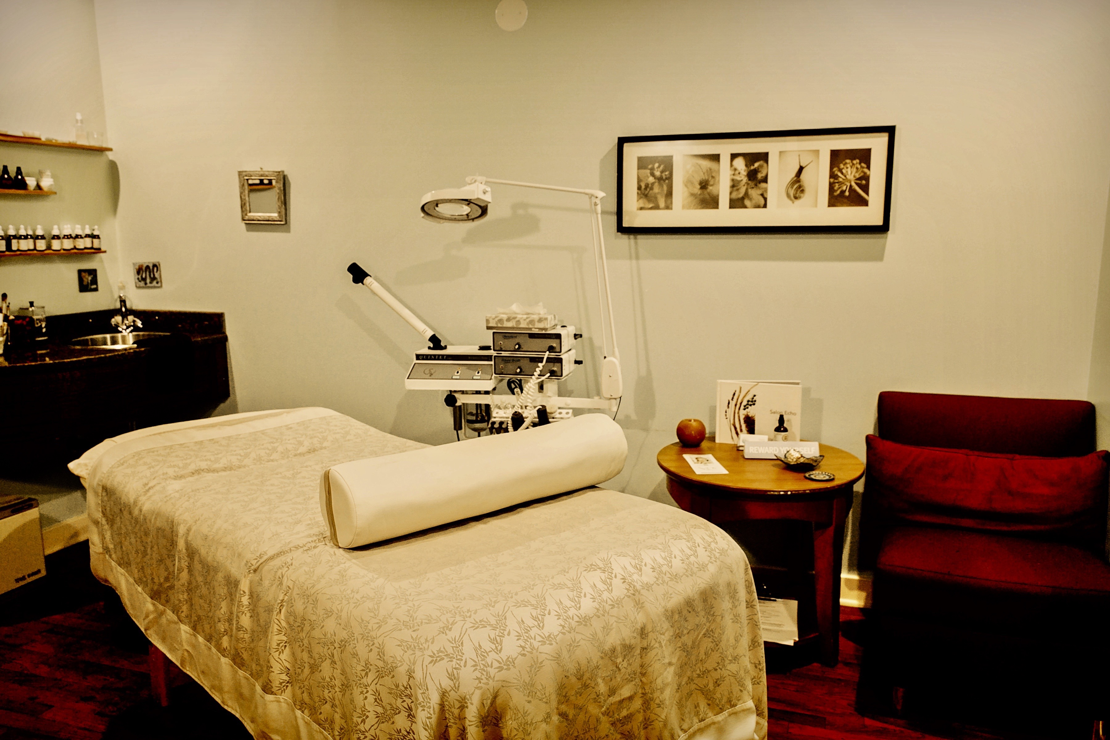 One of Salon Echo Spa Rooms, Edgewater Spa